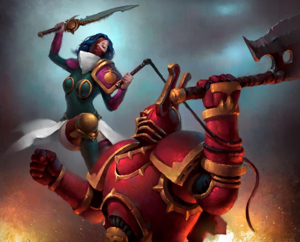Slaanesh Chaos Lord vs Khorne Berzerker